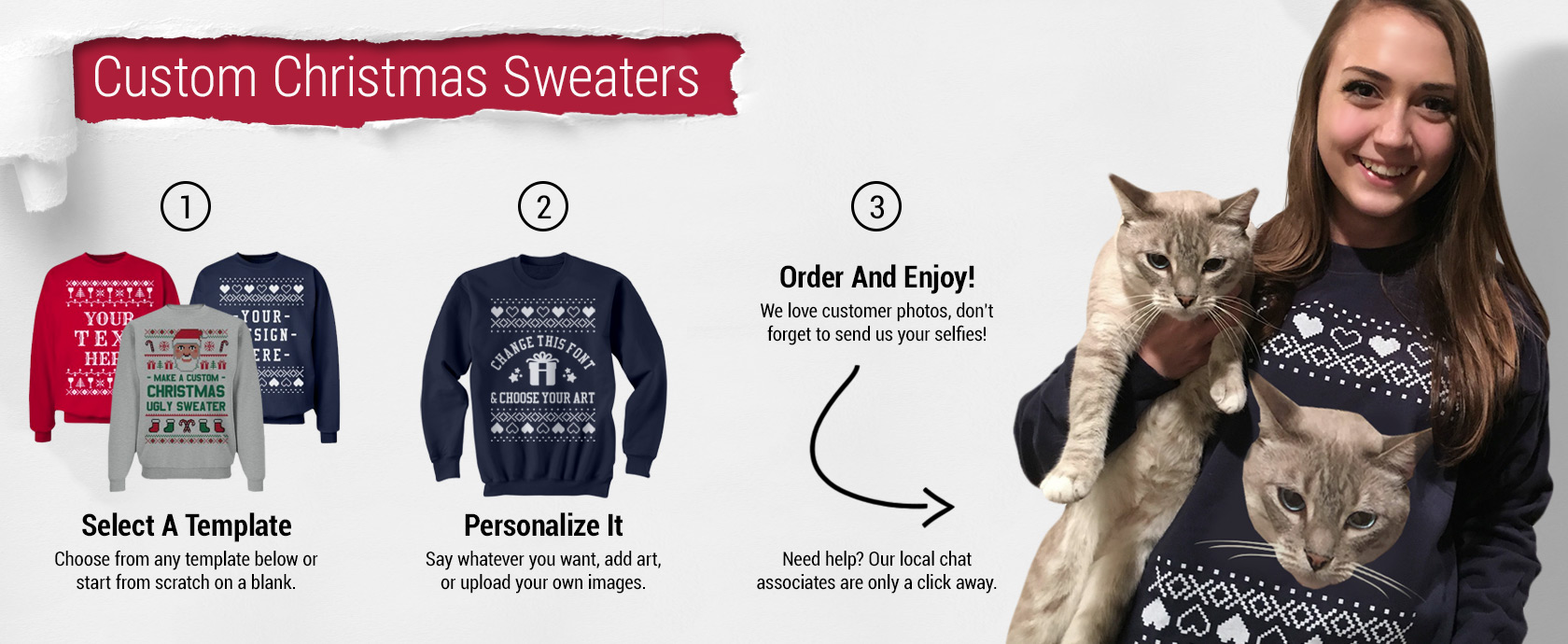 Custom Christmas Sweaters.Be Merry And Bright With Custom Christmas Sweaters