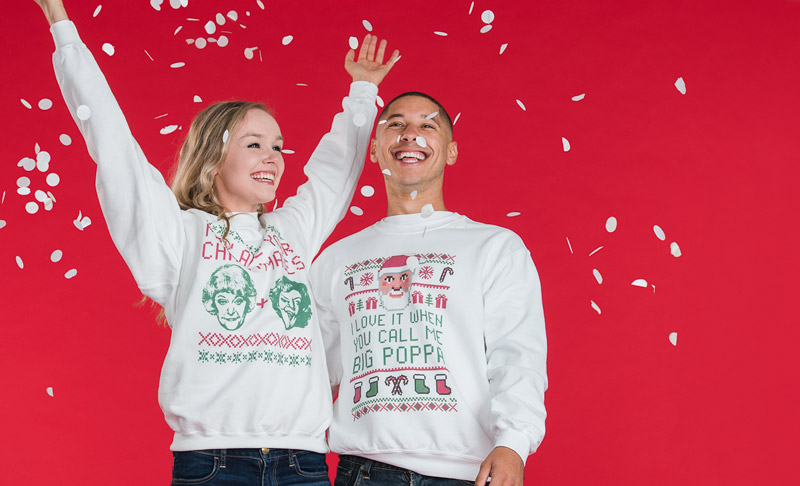 Make Matching Christmas Sweaters With The Customized Girl Coupon