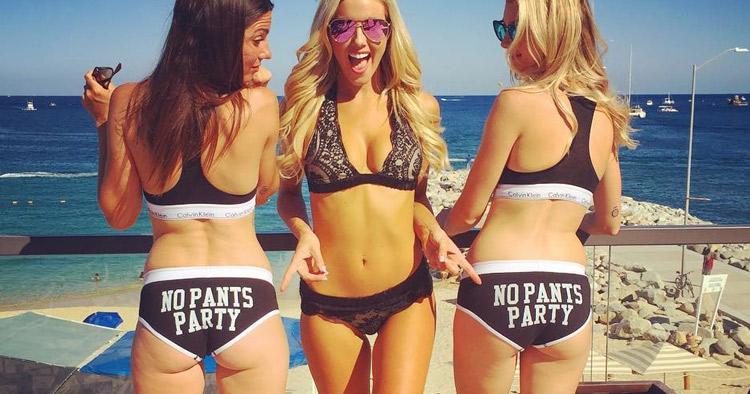 NoPantsParty Custom Black Undies