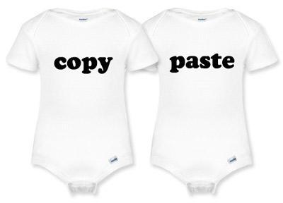 Copy Twin Onesie