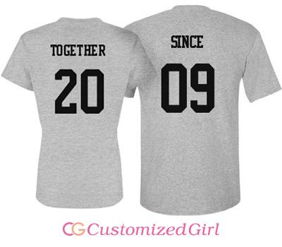 Together Since Couple Shirts