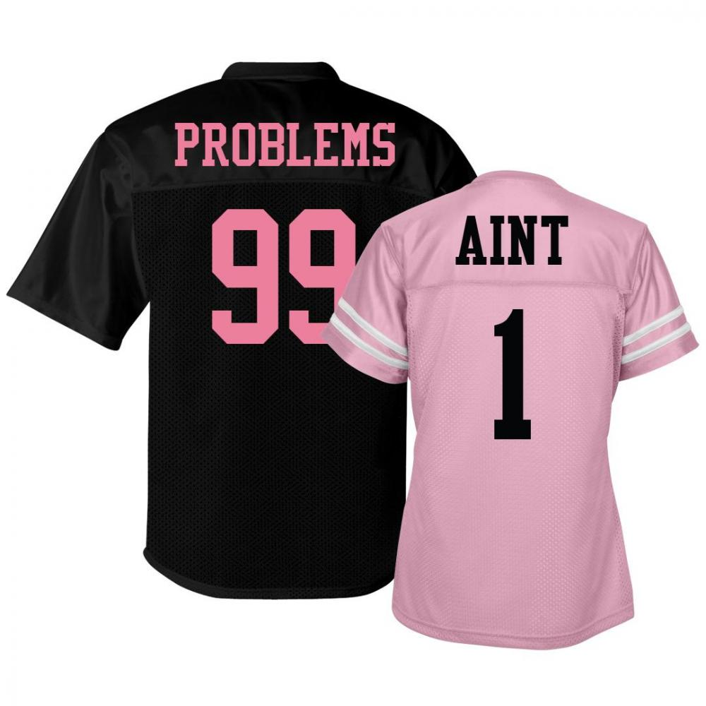 99 Problems Jersey Pink