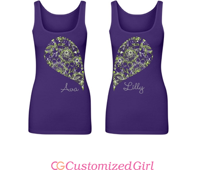 Matching Floral Bff Tank