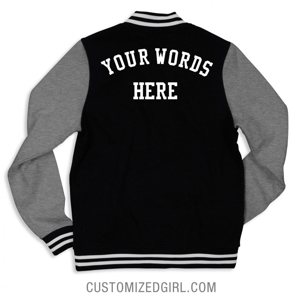 Custom Text Bomber Jacket