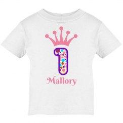 Girls 1st Birthday Tshirt