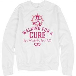 Breast Cancer Charity Walk Custom Fleece Sweatshirt
