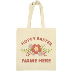 Floral Hoppy Easter Custom Name