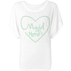 Maid of Honor flowy tee