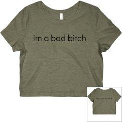 super cute bad b shirt