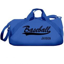 Jayden's baseball bag