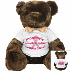 Breast cancer plush bear