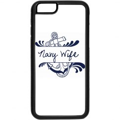 Black and White Navy Wife iPhone 6 Case