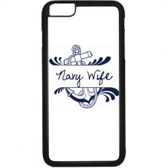 Black and White Navy Wife iPhone 6 Plus Case