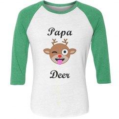 Papa Deer Custom Christmas Pajamas Shirt
