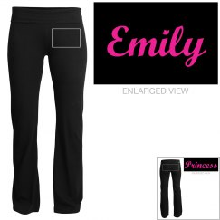 Emily, yoga pants