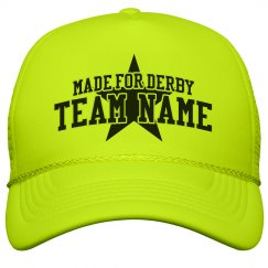 Custom Derby Team Neon Hat