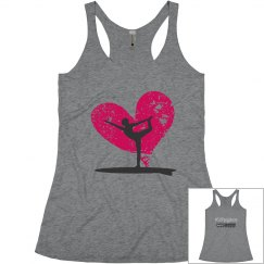 #SUP yoga love racer back