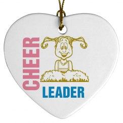 Cheerleader Xmas Ornament