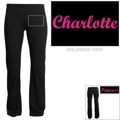 Charlotte, yoga pants