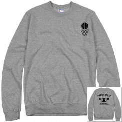 Customize basketball sweatshirt
