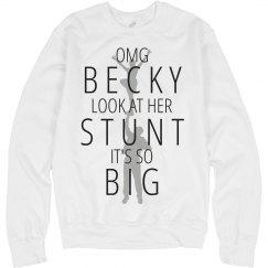 She Likes Big Stunts Funny Cheer Sweatshirt