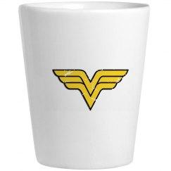 Wonder VV logo Shotglass