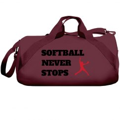 Softball never stops