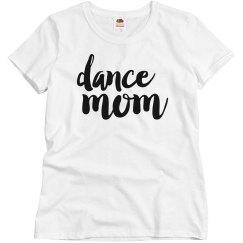 Trendy Metallic Silver Dance Mom