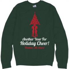 Holiday Cheer Pun Custom Christmas Cheerleaders Sweater