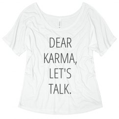 Dear Karma Let's Talk