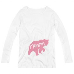 Momma Bear Mothers Day Maternity Shirt