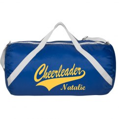 Sporty Cheerleading Bag with Custom Cheer Name