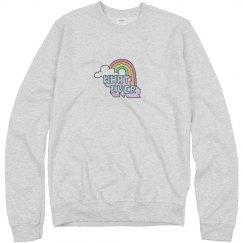Whatever Vintage Rainbow Sweater