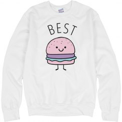 Cute Pastel Burger Best Friends