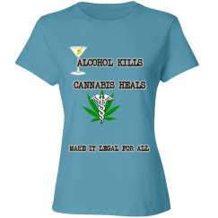 Alcohol kills ladies tee
