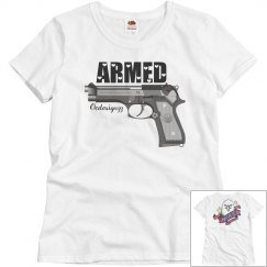 Gun Armed Eagle American Pride Women's Tshirt