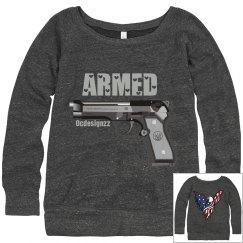 Armed Gun Eagle American Pride Sweatshirt