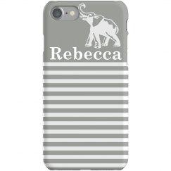 Striped Elephant iPhone