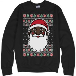 Christmas Black Santa Sweater