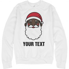 Custom Black Santa Sweater