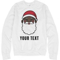 Custom Black Santa Sweater