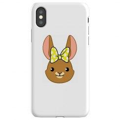 Bunny Bows - Yellow Polka Dots