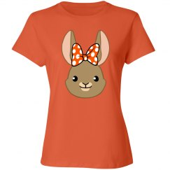 Bunny Bows - Orange Polka Dots