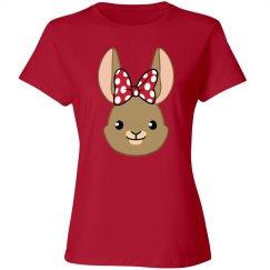 Bunny Bows - Red Polka Dots