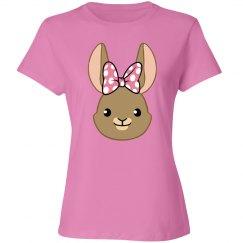 Bunny Bows - Pink Polka Dots