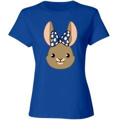 Bunny Bows -  Blue Polka Dots