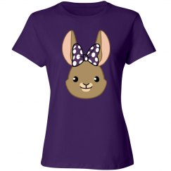 Bunny Bows - Purple Polka Dots