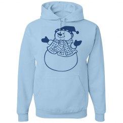 Blue Happy Snowman