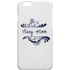 White Navy Mom iPhone 5/5s Case