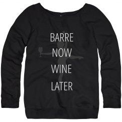 Wine Later Barre Workout Sweats